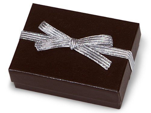 Pack Of 1000, 6'' Met. Silver Stretch Loops 1/4'' Wide Elastic Ribbon w/Bow Great For Jewelry Boxes