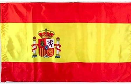 Durabol Bandera de España Bandera con Escudo 150 * 90 cm Spain Satén: Amazon.es: Hogar