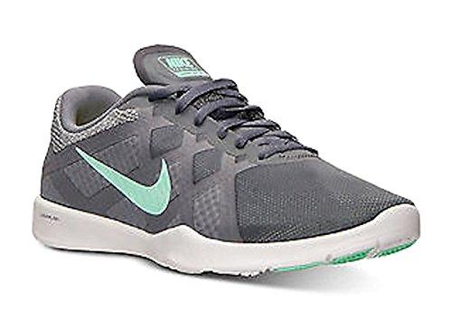 Nike Dames Lunar Lux Tr Dark Gry / Groen-geel / Witte Hardloopschoen 6 M Us