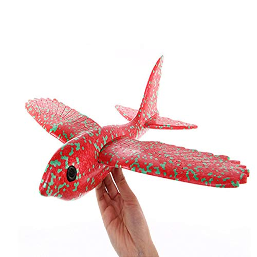 Feccile Foam Throwing Glider Airplane Inertia Aircraft Toy Hand Launch Airplane Bird Model Streamline Design Double-Wing Structure Folding Four-axis Drone Motor Parts