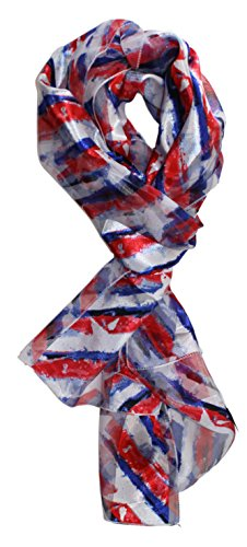 Ted and Jack - Stars & Stripes American Pride Print Silk Feel Scarf in Festive (American Pride Print)
