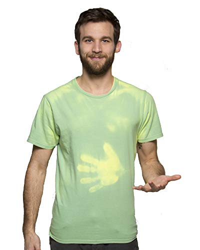 (Shadow Shifter Adult Color Changing T-Shirt Heat Sensitive Green to Yellow)