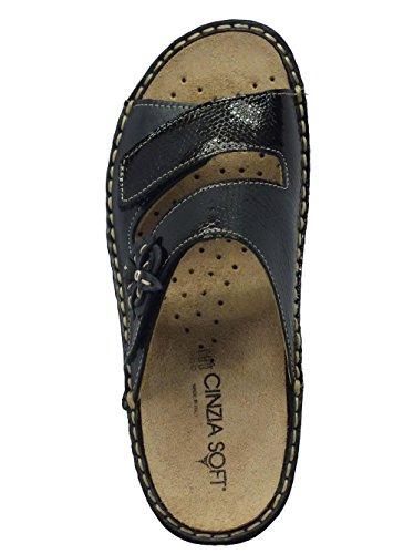 Cinzia Soft Im2812m Nero - Sandalias de vestir de Piel para mujer negro