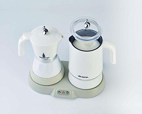 Ariete 1344 Breakfast Station - 3 prodotti in 1: Moka-Bollitore-Montalatte a caldo e freddo, 500W, 4/2 tazze… 4