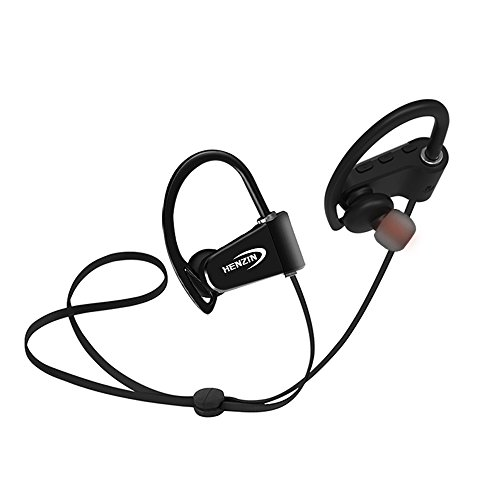 Bluetooth Headphone,HENZIN Wireless Waterproof IPX7 Earphones with Mic,Sports Stereo In-ear Earbuds for Gym Running Cycling Workout(Black)