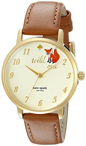 kate spade new york Women s 1YRU0885 Metro Analog Display Japanese Quartz Brown Watch