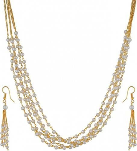Penny Jewels Alloy Gold Plated Latest Designer Comfy Necklace Set For Women  amp; Girls Jewellery Sets