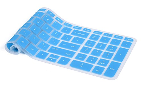 Keyboard Cover for HP 15.6 Laptop 15-BS015DX 15-BS158CL 15-BK163DX, HP Notebook 15-BA015WM, HP 15-BA009DX, HP 15-ay011nr 15-ay103dx 15-ay041wm, Blue