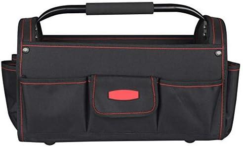 耐久性工具バッグ プロフェッショナル防水パワーツールハンドバッグヘビーデューティツール収納袋主催のホームDIY用品 工具収納&仕分け管理&運搬用 (色 : Black, Size : One size)
