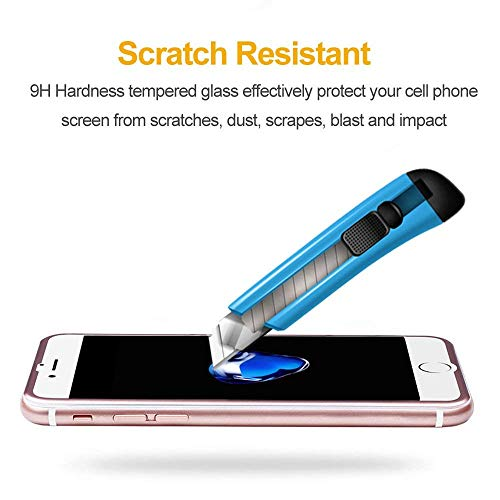 """VIUME Compatible for iPhone 7 Plus / 8 Plus Screen Protector, 9H Hardness iPhone 7 Plus/iPhone 8 Plus Tempered Glass Screen Protector 3D Full Coverage 5.5"""" (Metal Rose Gold)"""