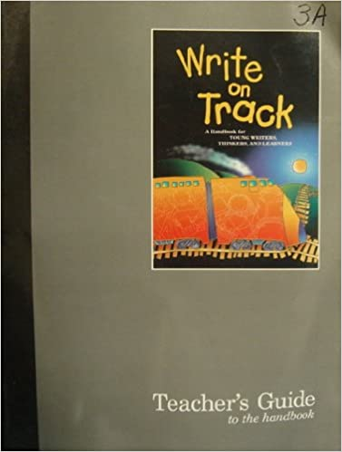 Book A teacher's guide to accompany Write on track