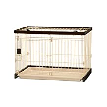 Richell 94922 Easy-Clean Pet Crate with Wire Top, Small
