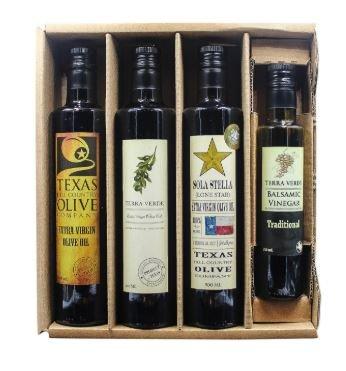 The Big D Premium Olive Oil and Balsamic Vinegar Kraft Gift Set