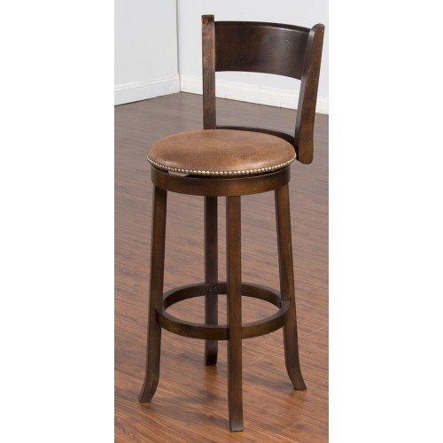 Sunny Designs Santa Fe Swivel Barstool, 30-Inch, Dark Chocolate (Decor Furniture Santa Fe)
