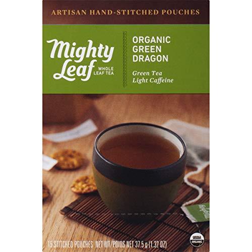 Mighty Leaf Tea Organic Green Dragon Hand-Stitched Tea Bags, 15 - Organic Dragon
