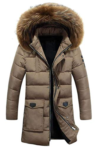 Manteau Capuche D'hiver De Hommes À Kangqi Kaki Vêtements Pour TqFcwwtHR