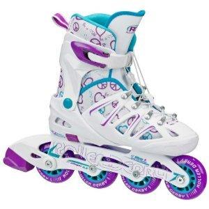Roller Derby Girl's Stinger 5.2 Adjustable Inline Skate, - Roller Derby Skates