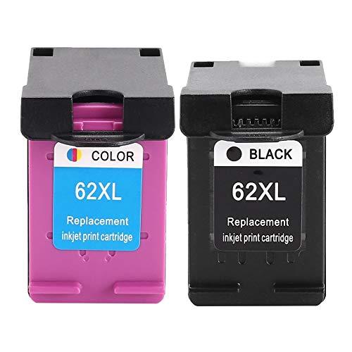Ink Cartridge Compatible For HP62 62XL 62 Envy 5640 5660 7640 5540 5544 5545 5546 5548 Officejet 5740 5741 5745 Inkjet Printer(nero&Coloreful HP65XLB+HP65XLC)