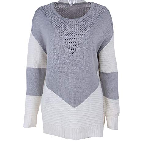 Collo Donna Patchwork Inverno Sweater Tops Autunno Lunga Jumpers Maglione Pullover Moda a Cime Rotondo Manica Camicia Maglieria Bluse Felpa Casual x774tr