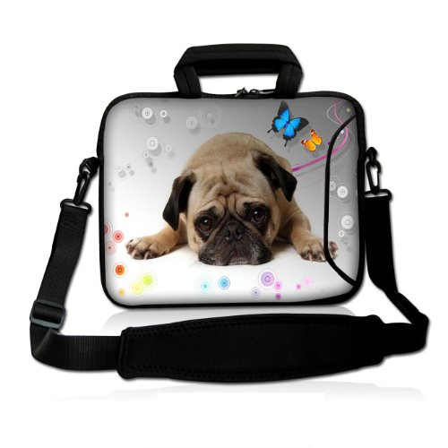 "Cute Pug 15"" 15.4"" 15.6"" colorful Notebook Laptop Shoulde..."