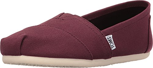 TOMS Women's Seasonal Classics Red Mahogany Canvas 12 B ()