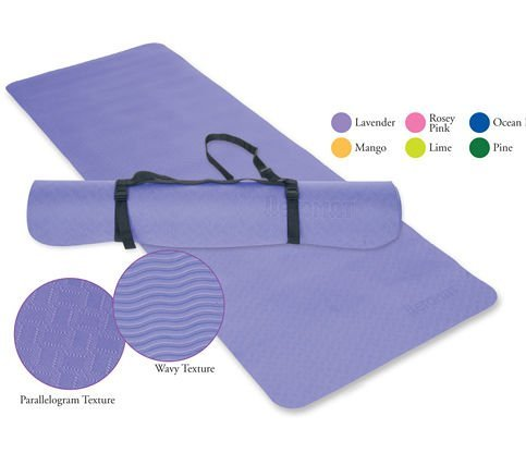 Essential Yoga Pilates Mat Color: Lavender