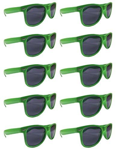 BULK UNISEX SUNGLASSES- Retro Neon Party Style (Weddings, Promotions, Birthdays) (Neon Green) for $<!--$23.99-->