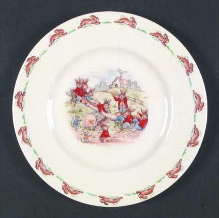 Royal Doulton Bunnykins (Albion Shape) Salad Plate, Fine China Dinnerware