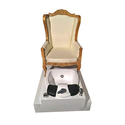 Pedicure Chairs For Feet With Drain With Glass Bowls Beauty Salon Chairs Fashion Casual Pedicure Chair Beauty Salon Chair Fashion Style Manicure Pedicure Nail Station (white)