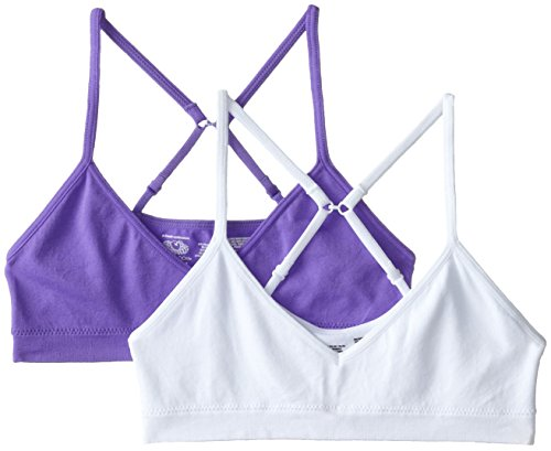 Fruit of the Loom Big Girls' Seamless  Bralette, White/Violet, 28(Pack of 2) (Girls Bra Fruit Of The Loom compare prices)