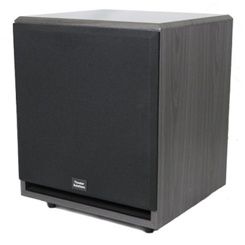 Theater Solutions SUB12F 500 Watt 12-Inch Surround Sound HD Home Theater Powered Active Subwoofer - Active Crossover Subwoofer