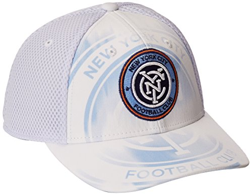 fan products of MLS New York City FC Adult Men MLS SP17 Fan Wear White Out Structured Adjustable Cap,OSFM,White