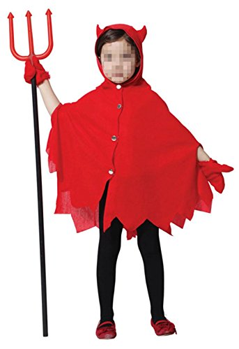 Devil Costume 2-3 Years (Betusline Kids Girls Cosplay Red Devil Halloween Costume)