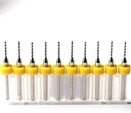 10PCS Carbide Drill 1.0mm Size : 0.1mm Nologo HHUI-PCBZUANTOU Woodworking Tools PCB Micro-Drilling CNC Metal Drill Router Tools Mini-Hand Drill