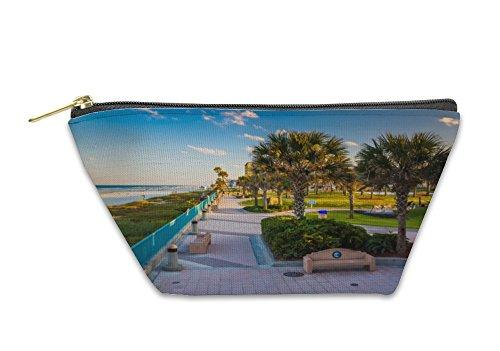 Gear New Accessory Zipper Pouch, Palm Trees And Walkway Along The Beach In Daytona Beach Florida, Large, - Daytona Beach Beach Walk
