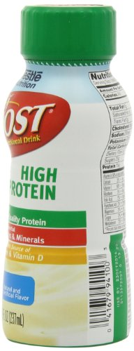 Boost High Protein Complete Nutritional Drink, Vanilla Delight, 8 fl oz Bottle, (Pack of 24)