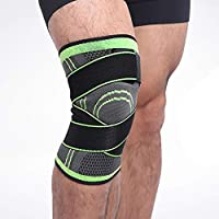 3D Pressurized Fitness Bandage Knee Support Brace Elastic Nylon Sports Compression Pad Sleeve for Running Cycling