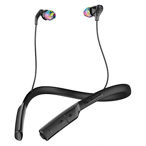 Skullcandy Method Bluetooth Wireless Sport Earbuds With Mic  Black Swirl