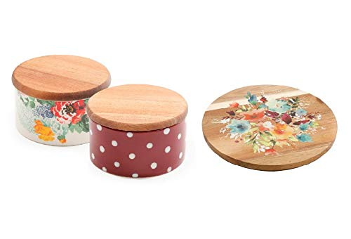 The Pioneer Woman Country Garden Salt Cellar Set 2-Piece comes with a 12-Inch Revolving Food Server