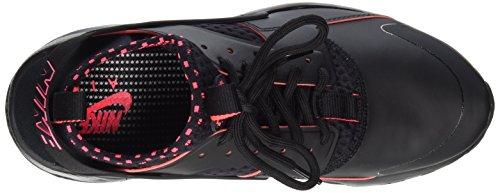NIKE Herren Huarache Run Ultra Running Sneaker Schwarz / Solar Rot-Schwarz