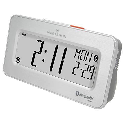Marathon CL800002SH Atomic Bluetooth Alarm Clock System - Br
