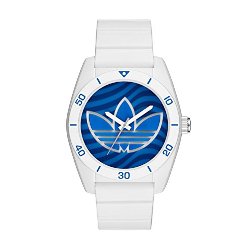 adidas Men's 'Santiago' Quartz Rubber and Silicone Casual Watch, Color:White (Model: ADH3195) - Adidas Watches For Men