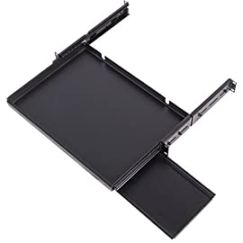 """Sliding Keyboard Shelf for 16"""" Keyboards - 19"""" Rack-Mountable (2U Rack Space) 1 19"""" Rack Mountable 2.25""""H x 19""""W x 12""""D Compatible with 16 inch wide or less keyboards. Adjustable Mounting Depth: 12"""" to 28"""""""