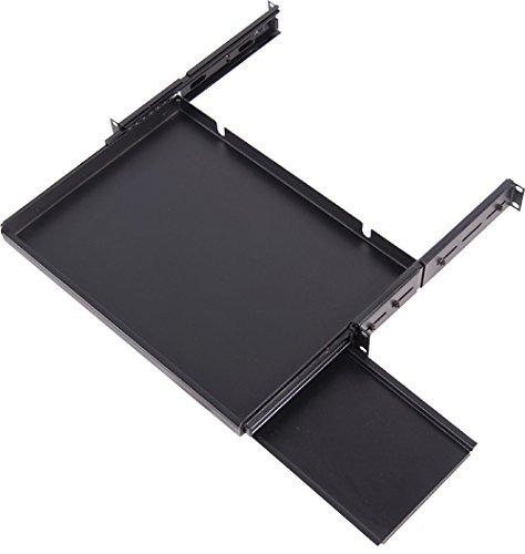 sliding keyboard shelf for 16 39 keyboards 19 39 rack mountable. Black Bedroom Furniture Sets. Home Design Ideas