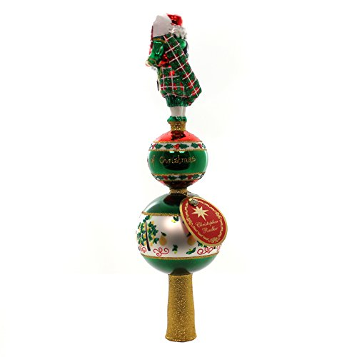 Christopher Radko Piper Piping Finial Santa Claus Christmas Tree Topper Ornament by Christopher Radko (Image #1)