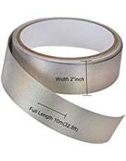 Faraday Tape,Copper Nickel Plated Conductive Electrode Tape Fabric, RF/EMI/EMF Shielding,Grounding
