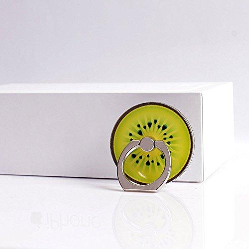 Hanbaili Soporte para teléfono celular, frutas de colores anillo de dedo de agarre anti gota soporte Soportes de coche para iPhone iPad Tablet Samsung LG Kiwi Fruit