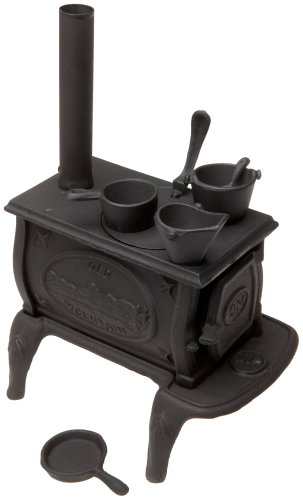 Old Mountain 10142 Black Mini Box Stove Set, with Accessories, 10 1/2 Inch (Old Stove)