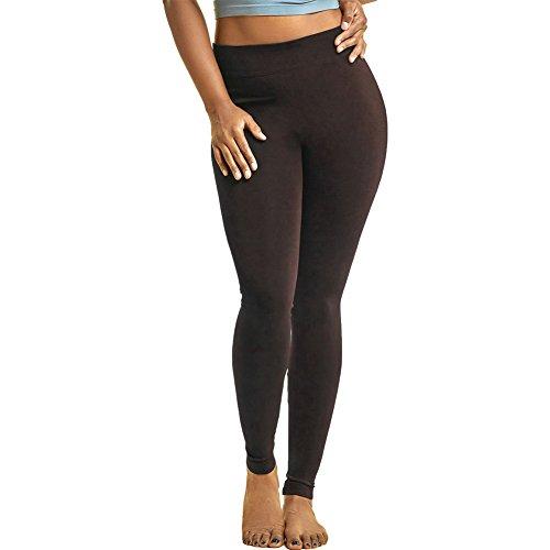 Nylon Opaque Leggings (Mopas Womens Plus Size Solid Nylon Full Length Leggings Stretch Pants Long 1X 2X 3X)