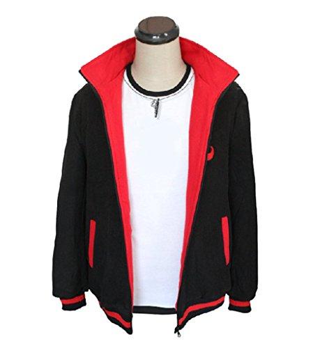 Smoon Cosplay Boruto-Naruto The Movie Uzumaki Boruto Black Long-Sleeved Coat Hoodie Costume(XL)